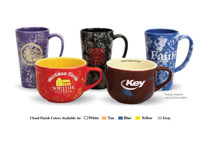 Customized USA Made Mugs in Cloud Finish