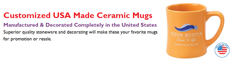 Customized USA Made Mugs made in America custom mugs